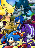 Sonic The Hedhehogs by SonicKnight007