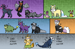 PKMN | Mix and Match Clutch (4-TRAIT AUCTION) by Pandorachi