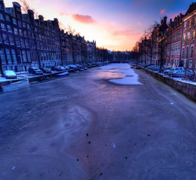 Frozen Amsterdam by shhhhh-art