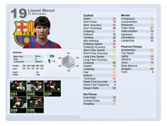 PES 2012 - Player Stats by chaose109