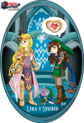 Lyra y Sylcred hyrule warriors by silver-dragon-melove
