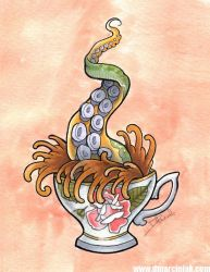 Tentacle tea by dmillustration