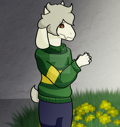 Asriel Redraw 2018 by CreativeCrepeOwO