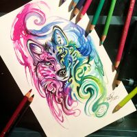 84- Decorative Wolf by Lucky978