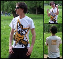 dirty roar star t-shirt by juroo