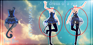 MMD AION - Black Dress - [DL] by Milionna