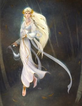 LOTRO: Galadriel at night by Gorrem