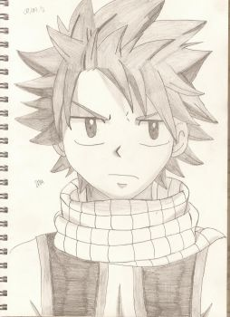 Day 38: Natsu Dragneel by cycoclash25