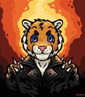 Ghost Rider Tiger Guy by Miltonholmes