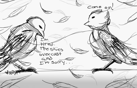 Two Birds On A Wire by SilverGlow12