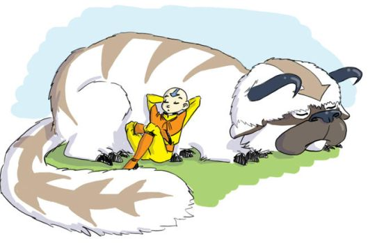 Aang and Appa by mayflycrow