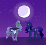 Lunar Twins by bluestarproduction
