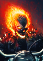 Ghost Rider Symbiote by junkome