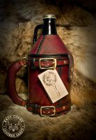 Leather Growler Bottle Holster by EastCoastLeather
