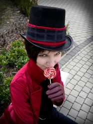 Willy Wonka and the lollipop by jolica