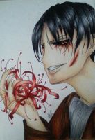 First Original Drawing! Levi x Tokyo Ghoul by aBunny15