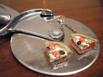 Pizza Earrings by Mika-Chan-Ness