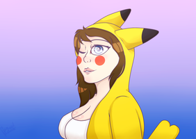 Pika Girl by P-Paradox