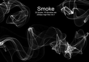 20 Smoke PS Brushes abr. Vol1 by fhfgdjjkhjkj