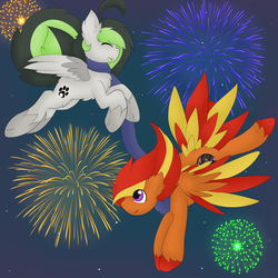 Tech and Bree New years by TechTalkPony