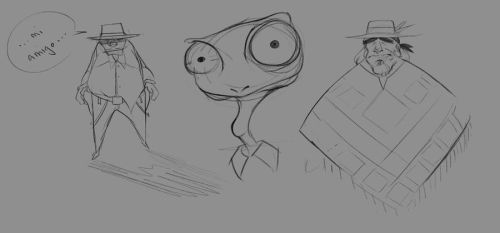 Sketches After Rango by Istebrak