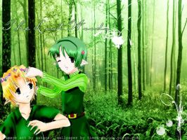 link and saria by xo-neverforgett