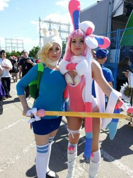Sylveon and Fiona Cosplay [Anime North 2014] by hailstormnightmare