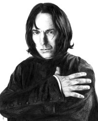 Severus Snape by papercastle