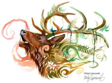 Forest Elk by Lucky978