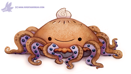 Daily Paint #1155. Octopie by Cryptid-Creations