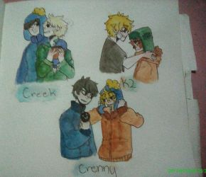Some South Park Ships by renzypretzy