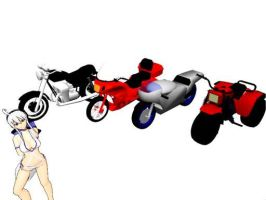 MMD Motorbike Download by Hazamukara