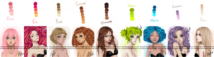Hair Palette. by Weslylix