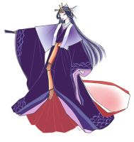 Heian lady court gown by okayutaka