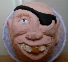 Pirate Themed Carved Golfball by Des804