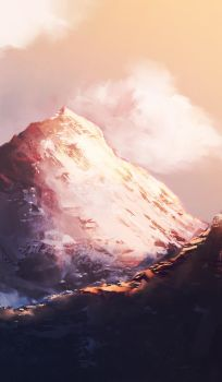 Pink Mountains, 11182015 spitpaint by cobaltplasma
