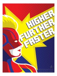 Higher, Further, Faster by patrickkingart