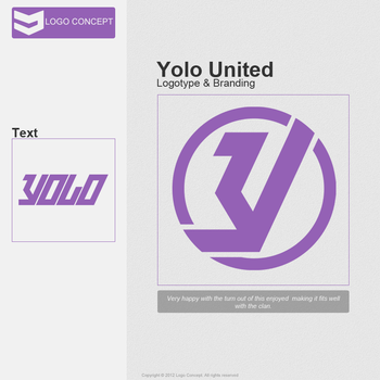 Yolo United Logo by LogoConcept