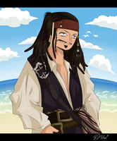 Captain Jack Sparrow by darthfilart