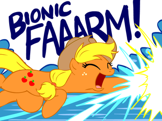 MLP Applejack: 'BIONIC FARM' by marcusmaximus