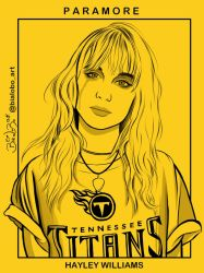 Hayley Williams (Paramore) Fanart byBiaLobo by BiaLobo