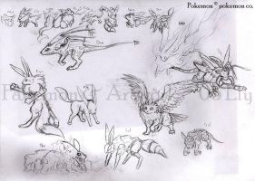 Many More Fakemon Eeveelutions by ParticleSoup