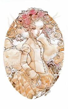 The Maiden of Rose Flowers by nati