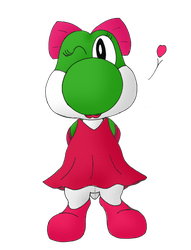 Crossdressing Yoshi by Unownace