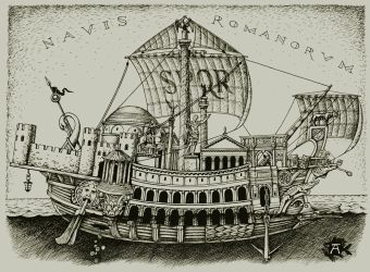 Empire's ship (Romans ship, NAVIS ROMANORVM) by LeValeur