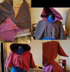 Brown/Red Reversible Cowl by CaptainMorganTeague
