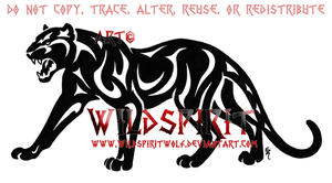 Roaring Tribal Panther Logo by WildSpiritWolf