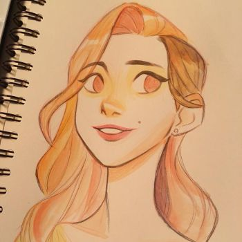 First time Watercolor by miacat7