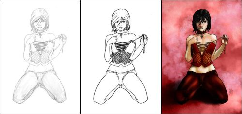 Angelique: From Sketch to Colors by markg
