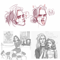 Olly/Trish Sketch Dump by UrsulaDecay